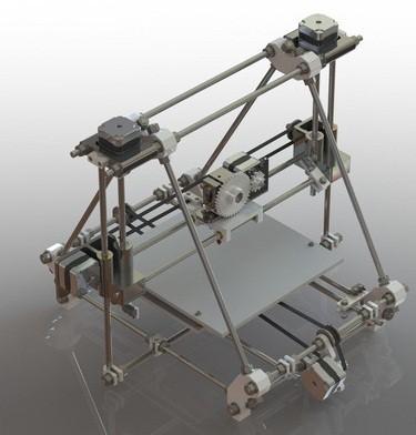 پرینتر سه بعدی طراحی شده در سالیدورک و کتیا