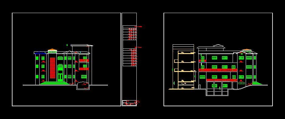 پلان معماری ساختمان سه طبقه