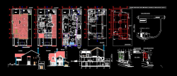 پلان معماری ویلا دو طبقه دوبلکس