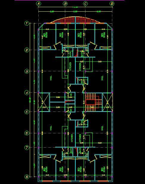 پلان معماری ساختمان مسکونی 410 متری