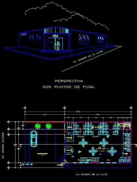 پلان معماری کافی نت