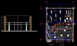 پلان معماری داروخانه