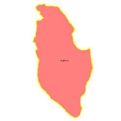 شیپ فایل محدوده سیاسی شهرستان سمیرم