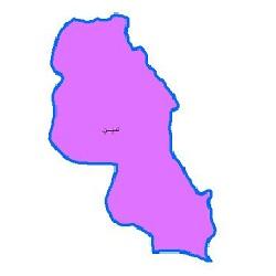 شیپ فایل محدوده سیاسی شهرستان نمین