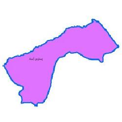 شیپ فایل محدوده سیاسی شهرستان پارس آباد