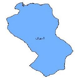 شیپ فایل محدوده سیاسی شهرستان شهرکرد
