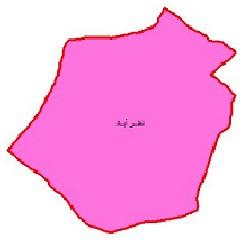 شیپ فایل محدوده سیاسی شهرستان نظرآباد