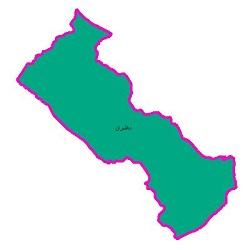 شیپ فایل محدوده سیاسی شهرستان دهلران