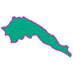 شیپ فایل محدوده سیاسی شهرستان ایلام