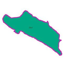 شیپ فایل محدوده سیاسی شهرستان ایوان