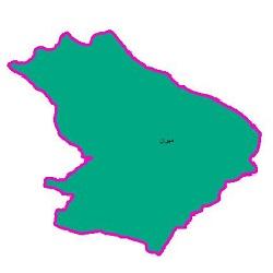 شیپ فایل محدوده سیاسی شهرستان مهران