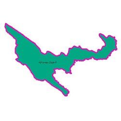 شیپ فایل محدوده سیاسی شهرستان شیروان و چرداول