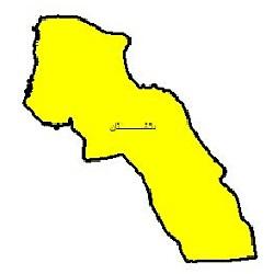 شیپ فایل محدوده سیاسی شهرستان دشتستان