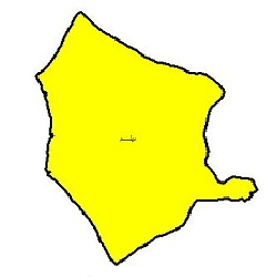 شیپ فایل محدوده سیاسی شهرستان دیلم