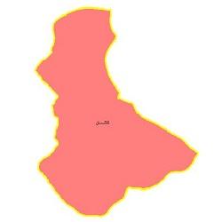 شیپ فایل محدوده سیاسی شهرستان کاشان