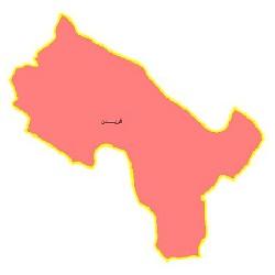 شیپ فایل محدوده سیاسی شهرستان فریدن