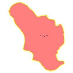 شیپ فایل محدوده سیاسی شهرستان خمینی شهر