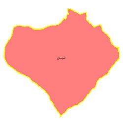 شیپ فایل محدوده سیاسی شهرستان لنجان