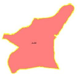 شیپ فایل محدوده سیاسی شهرستان نطنز