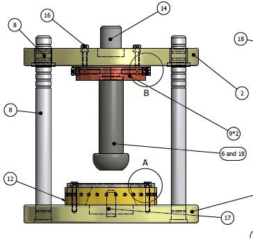 طراحی و مونتاژ تک تک قطعات قالب کشش عمیق نیم توپی در نرم افزار اینونتور