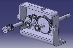 طراحی و مونتاژ گیربکس کاهنده دستگاه تراش در نرم افزار کتیا