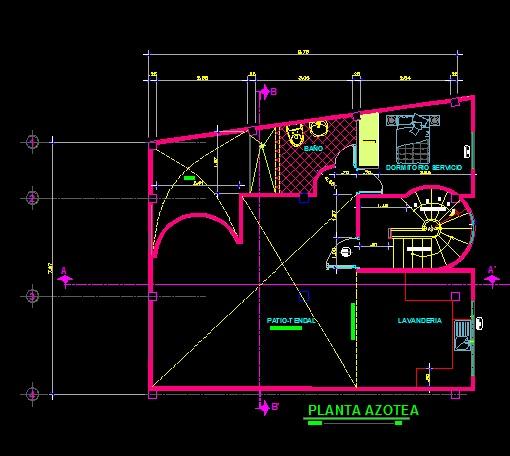 فایل اتوکد پلان معماری طبقه دوبلکس ساختمان ویلایی 2 طبقه با اندازه گذاری و مبلمان کامل قابل ویرایش