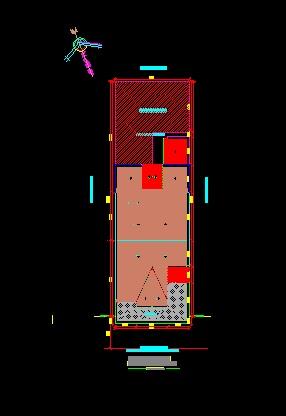 فایل اتوکد سایت پلان ساختمان مسکونی 4 طبقه با اندازه گذاری کامل قابل ویرایش