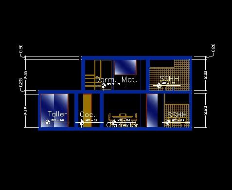 فایل اتوکد برش منزل مسکونی 2 طبقه با کد ارتفاعی کامل قابل ویرایش