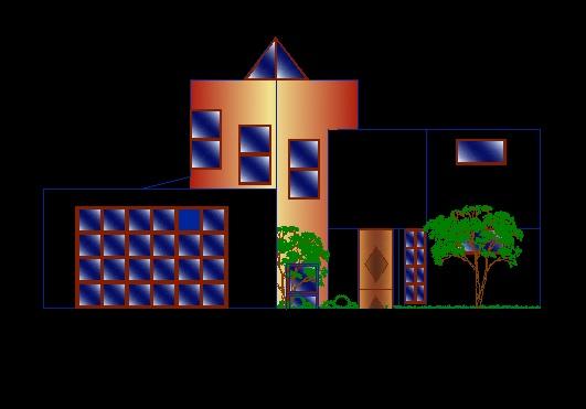 فایل اتوکد نما منزل مسکونی 2 طبقه کامل قابل ویرایش