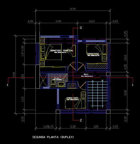 فایل اتوکد پلان معماری تیپ طبقات آپارتمان مسکونی 8 طبقه با اندازه گذاری و مبلمان کامل قابل ویرایش
