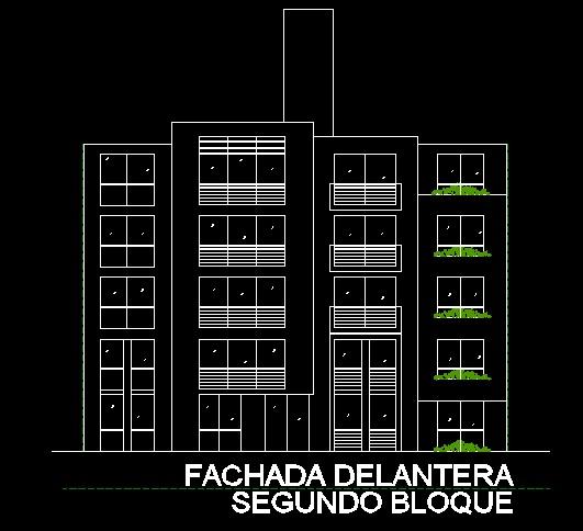 فایل اتوکد نما مجتمع مسکونی 6 طبقه کامل قابل ویرایش
