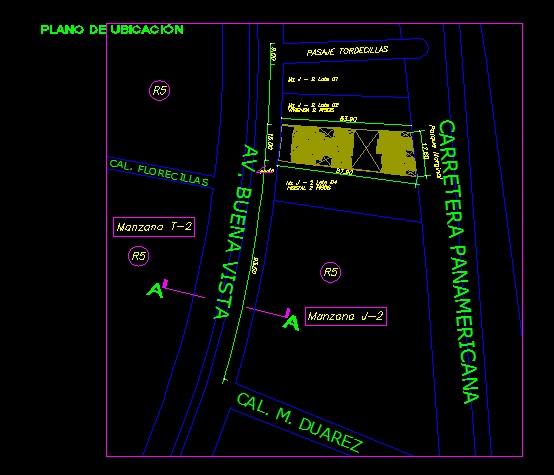 فایل اتوکد سایت پلان مجتمع مسکونی 6 طبقه با اندازه گذازی کامل قابل ویرایش