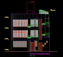 فایل اتوکد نما منزل مسکونی 3 طبقه با کد ارتفاعی کامل قابل ویرایش