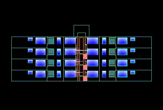 فایل اتوکد نما مجتمع مسکونی 4 طبقه مدرن کامل قابل ویرایش
