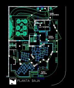 فایل اتوکد پلان معماری طبقه همکف آپارتمان مسکونی مدرن 16 طبقه با مبلمان کامل قابل ویرایش