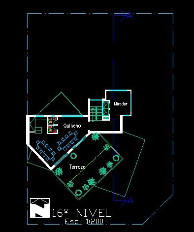 فایل اتوکد پلان معماری طبقه شانزدهم آپارتمان مسکونی مدرن 16 طبقه با مبلمان کامل قابل ویرایش