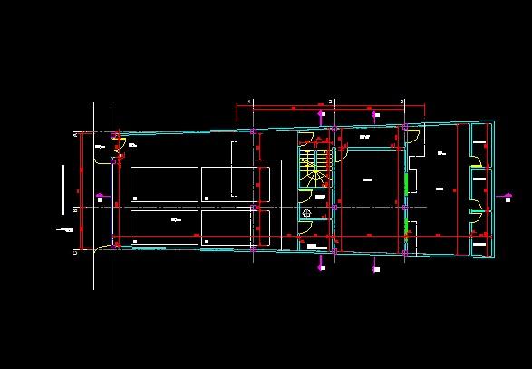 فایل اتوکد پلان معماری طبقه همکف منزل مسکونی 3 طبقه با اندازه گذاری کامل قابل ویرایش