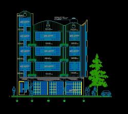 فایل اتوکد نما آپارتمان مسکونی 4 طبقه کامل قابل ویرایش