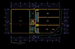 فایل اتوکد پلان معماری طبقه زیر زمین آپارتمان مسکونی 5 طبقه با اندازه گذاری کامل قابل ویرایش