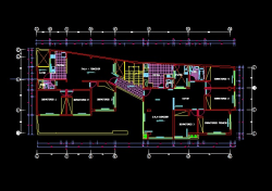 فایل اتوکد پلان معماری طبقه اول منزل مسکونی 3 طبقه با اندازه گذاری کامل قابل ویرایش