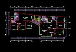 فایل اتوکد پلان معماری طبقه دوم منزل مسکونی 3 طبقه با اندازه گذاری کامل قابل ویرایش