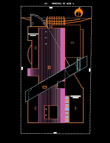 فایل اتوکد پلان بام مجتمع مسکونی 10 طبقه کامل قابل ویرایش