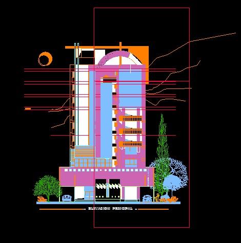 فایل اتوکد نما مجتمع مسکونی 10 طبقه کامل قابل ویرایش