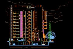فایل اتوکد برش مجتمع مسکونی 10 طبقه با کد ارتفاعی کامل قابل ویرایش