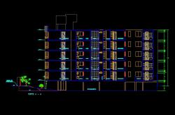 فایل اتوکد برش آپارتمان مس ی 6 طبقه با کد ارتفاعی کامل قابل ویرایش