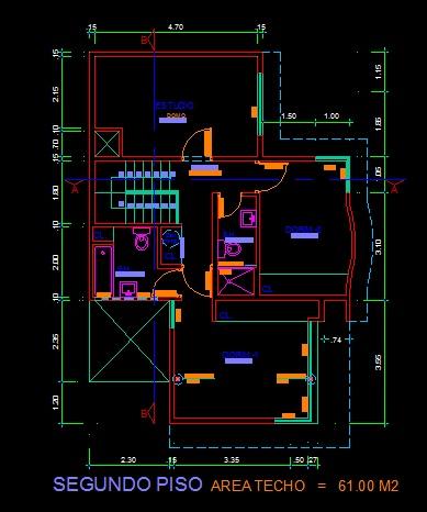 فایل اتوکد پلان معماری طبقه اول منزل مس ی 2 طبقه با اندازه گذاری کامل قابل ویرایش