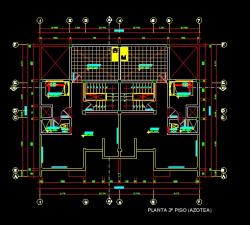 فایل اتوکد پلان معماری طبقه دوم منزل مس ی 3 طبقه با اندازه گذاری کامل قابل ویرایش