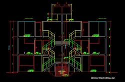 فایل اتوکد برش منزل مس ی 3 طبقه با کد ارتفاعی کامل رد شده از پله قابل ویرایش