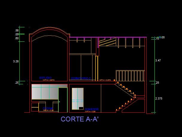 فایل اتوکد برش منزل مس ی 2 طبقه با کد ارتفاعی کامل قابل ویرایش