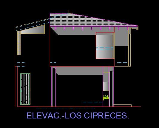 فایل اتوکد نما منزل مس ی 2 طبقه کامل قابل ویرایش